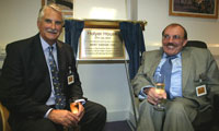 Michael Holyer and Bert Massie open Habinteg's new office on Red Lion Court