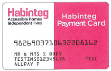 image showing Habinteg rent payment card (allpay card)
