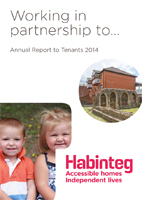 Image showing front cover of the Annual Report to Tenants 2014 linking to a download of the PDF version