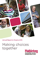 Image showing front cover of the Annual Report to Tenants 2015 linking to a download of the PDF version