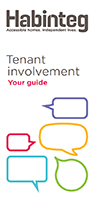 Cover of the tenant involvement handbook. Click to open the pdf