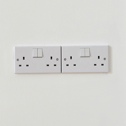 A picture of some plug sockets