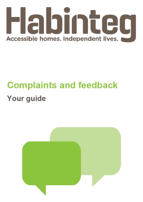 Complaints and feedback guide cover