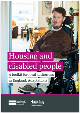 Front cover of EHRC Housing and disabled people toolkit brochure