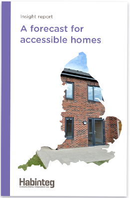 Image of the front cover of the Insight report: A forecast for accessible homes