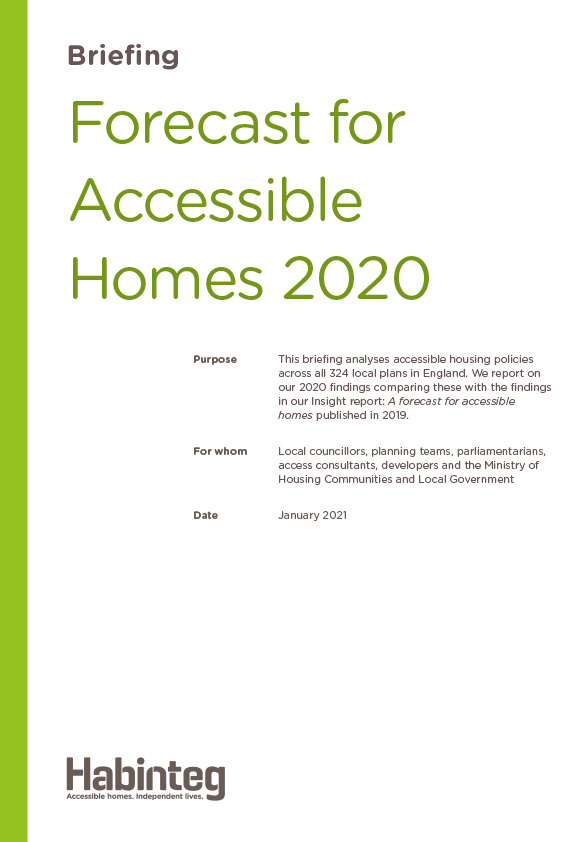 Update to Insight report: Forecast for accessible homes