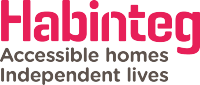 Habinteg logo and tagling: Accessible homes, independent lives